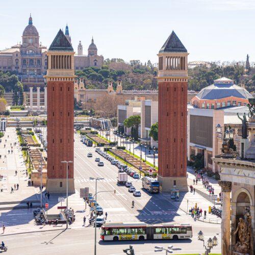 Flexatrans charge du fret à Barcelone